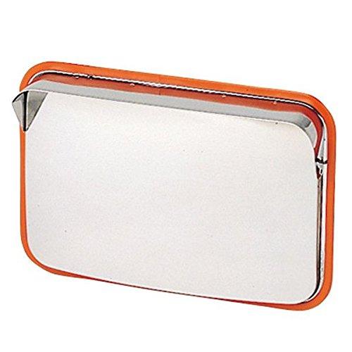ホップ ステンレス製 カーブミラー ガレージミラー 角型48.5cm×37.5cm HPS-角50 オレンジ 日本製 B01ISIH3FA 16380