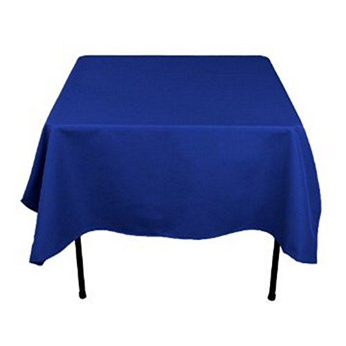 RDS 5 Set Of 48'' X 48'' Blue Square Polyester Table Cloth For Wedding Party & Venue Decoration (Premier Square Tablecloth)