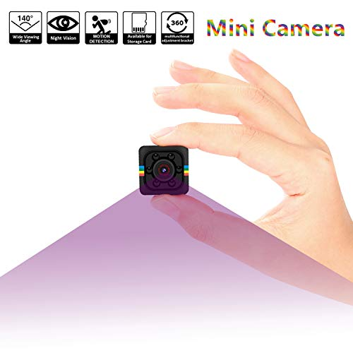 Small Hidden Camera, Amzchen Portable Home Security Nanny Cam with TV Out Display Hidden Camera HD 1080P Cop Cam with Night Vision Camcorder Motion Detection DVR Small Camera Sports DV Video Recorder