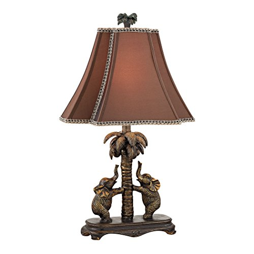 Dimond Lighting D2475 Adams Lane Elephants on Palm Tree Accent Lamp, Bridgetown Bronze (Palm Lamps)