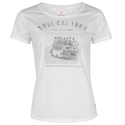 SoulCal Donna Deluxe Shirt T Fotografica Bianco S