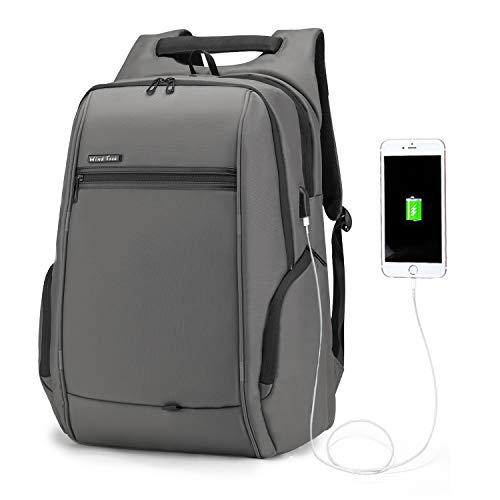 WindTook Laptop Backpack Business Travel 17inch Laptops Backpack with USB Charging Port, College School Computer Bag for Women & Men (17inch-Gray)