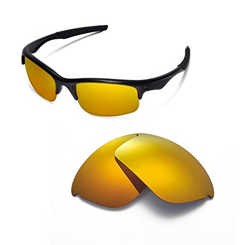 Walleva Replacement Lenses for Oakley Bottle Rocket Sunglasses - 8 Options Available (24K Gold Mirror Coated - - Sunglasses 8 Ball