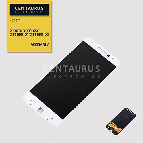 For Motorola Moto Z Droid XT1650 XT1650-01 XT1650-02 5.5'' Full LCD Display Touch Screen Digitizer Assembly White US by centaurus
