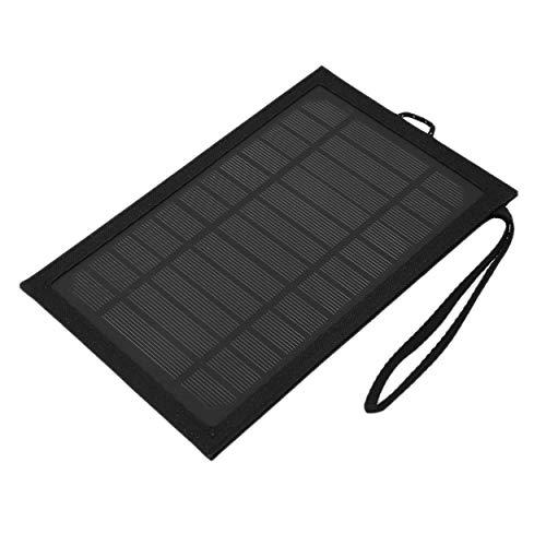 Cargador solar plegable solar del bolso de 6W 5V 1A para acampar al aire libre que camina y viaja negro que viaja