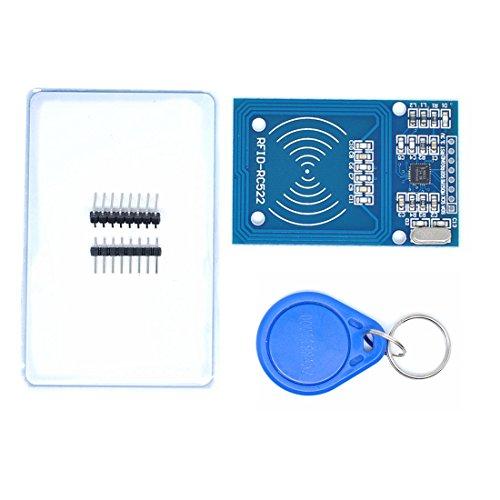 Willwin 2pcs RFID Kit - Mifare RC522 RF IC Card Sensor Module + S50 Blank Card + Key Ring for Arduino Raspberry Pi by Willwin