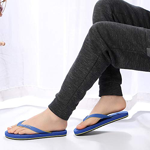 Summer Men Anti-Skidding Sandals Slipper Beach Shoes Blue by Sunsee (Image #6)