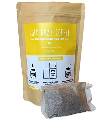 Hazelnut Cold Brew Iced Coffee (5-pack) | Cold Buzz Coffee Bean Bag Packs by Cold Buzz Coffee