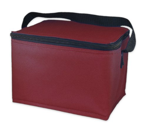 EasyLunchboxes Insulated Lunch Box Cooler Bag, Dark Red