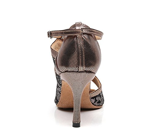 Our35 EU34 JSHOE 5cm Shoes Shoes Heels Chacha Dance Samba Women's UK3 Salsa High Latin Sandals Tango Jazz Brown Modern 5 heeled7 HWnRH