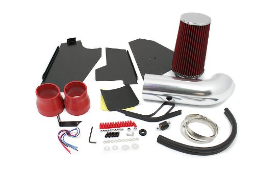 96 97 98 99 00 C/K 1500 / 2500 / 3500 V8 5.0L / 5.7L Heat Shield Intake Red (Included Air Filter) #Hi-CH-3R