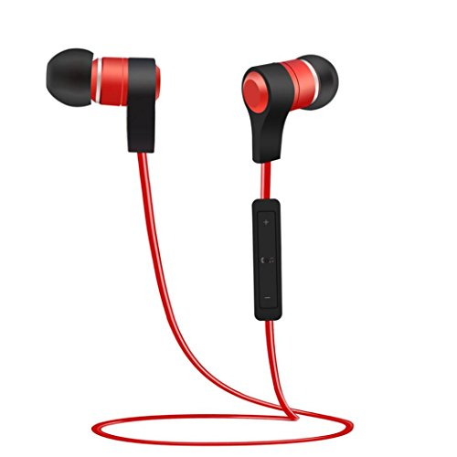 Silicone 3g Touch (DZT1968 Wireless Bluetooth Headset Sport Stereo Headphone Earphone For iPhone (red))