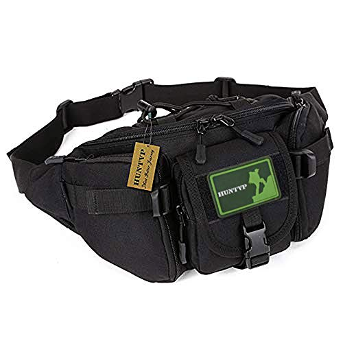 Protector Plus Tactical Waist Pack Bag Military Fanny Packs Waterproof Hip Belt Bag Pouch for Hiking Climbing Outdoor Bumbag