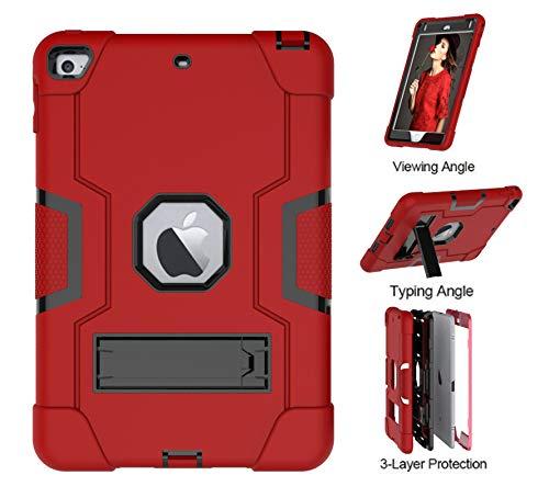 iPad Mini 5 Case,iPad Mini 4 Case,UZER Heavy Duty Shockproof Anti-Slip Silicone High Impact Resistant Hybrid Three Layer Armor Protective Case Cover with Kickstand for iPad Mini 5/ iPad Mini 4 7.9