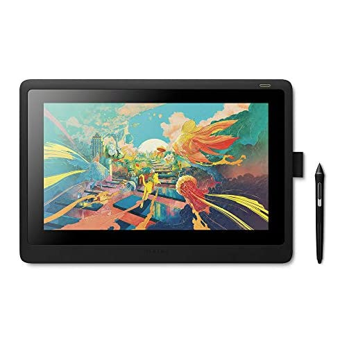 chollos oferta descuentos barato Wacom Cintiq 16 Monitor Interactivo y bolígrafo Wacom Pen Pro 2 Pantalla LCD de 16 para diseño digital Resolución Full HD Compatible con Windows y OS Negro