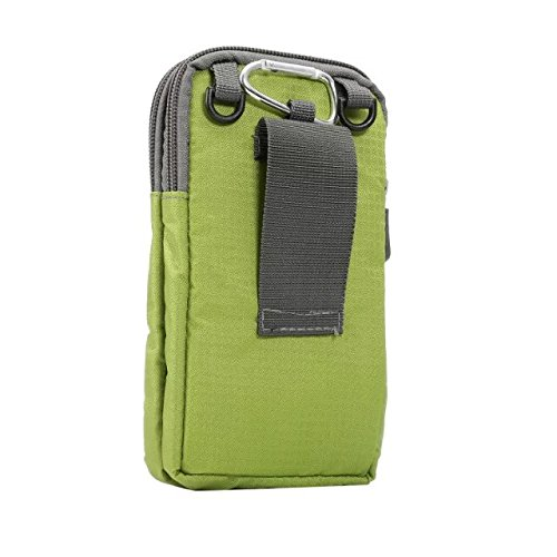PT Universal Multipurpose Case Pouch Nylon Sporty Smartphone Holster Belt Clip Waist Bag for iPhone X XS XS MAX 8 7 6 Plus Samsung Galaxy S8 S9 Plus S7 Edge Note 8,9 (Green) (Holster For Samsung S5 Shoulder)