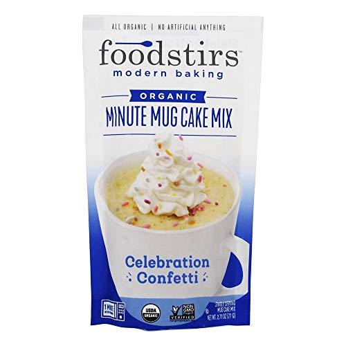 Foodstirs - Organic Minute Mug Cake Mix Celebration Confetti - 2.71 oz.