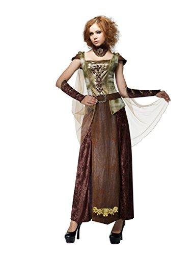 [HGM Costume Women's Dragon Princess, Brown/Green/Gold, Medium] (Hgm Costume)