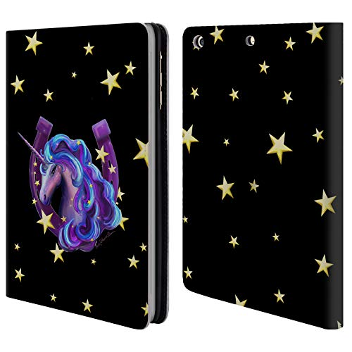 Official Rose Khan Stars Unicorn Horseshoe Leather Book Wallet Case Cover for iPad Mini 1 / Mini 2 / Mini 3