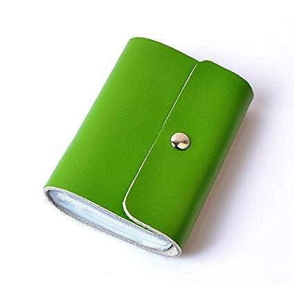 Amazon hezhong soft premium leather wallets credit card holder hezhong soft premium leather wallets credit card holder id business case purse unisex green color colourmoves