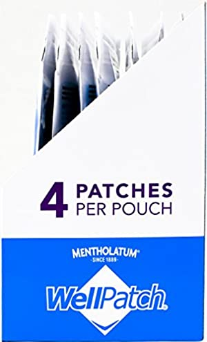 WellPatch Migraine & Headache Cooling Patch - Drug Free, Lasts Up to 12 hours, Safe to Use with Medication - Large Patches (4 Large Patches), Each 4.3 x 2 in (Tamaño: 4 Count)
