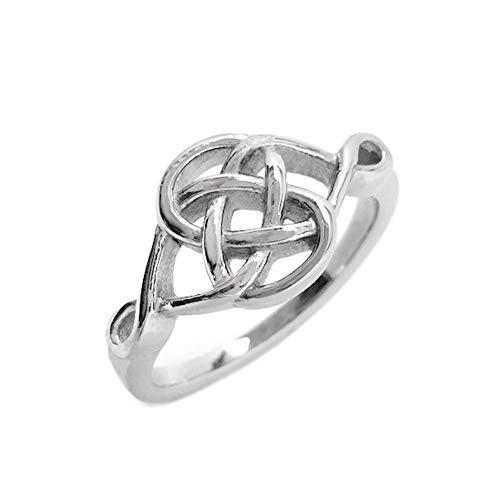 Loralyn Designs Stainless Steel Celtic Knot Irish Love Promise Committment Ring (Size 5)