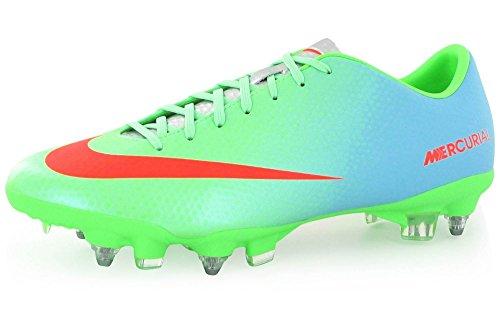 Nike - Botas de fútbol de según descripción para hombre BLEU/VERT/ORANGE 40 - BLEU/VERT/ORANGE