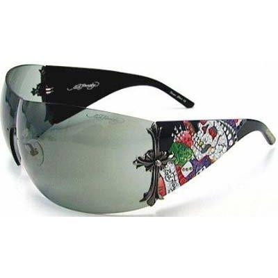 c5aa6846882 Ed Hardy Brad Sunglasses EHS-008 Black Solid Grey - Buy Online in ...