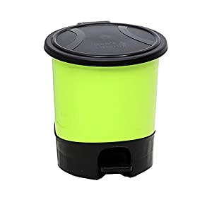 hflove trash can plastic kitchen bathroom office trash can with lid