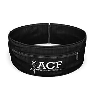 ACF Running Belt & Fitness Workout Belt w/ Multi access Pocket Openings