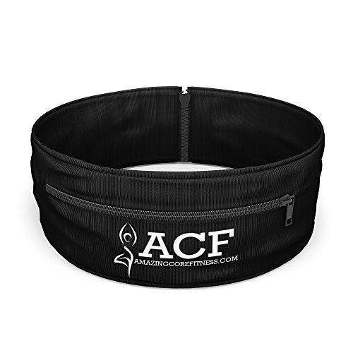 ACF Running Belt & Fitness Workout Belt w/ Multi access Pocket Openings