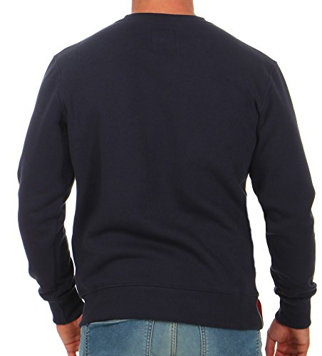 Bleu Basic Pull Homme Sweater Alpha zwIPz
