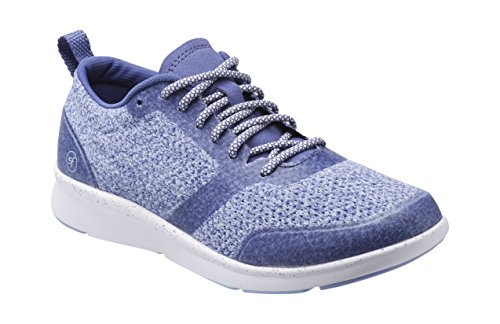 Superfeet Linden Women's Crafted Sport Shoe, Marlin/Bluebell, Athletic Synthetic Mesh/TPU, Women's 9.5 US
