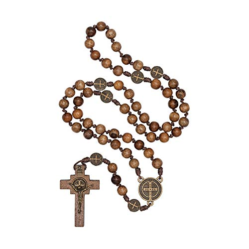 St Benedict Mens Intercession Rosary - Made in Brazil (Small Rosary - -