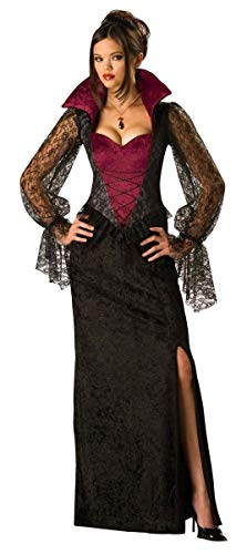 InCharacter Costumes, LLC Women's Midnight Vampiress Costume, Red/Black, -