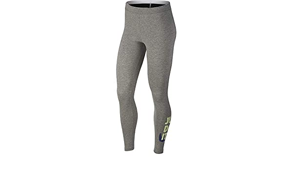 5ce3806710e66 Nike Womens Club Just Do It Leggings Grey Heather/Binary Blue 890381-063  Size Medium: Amazon.ca: Clothing & Accessories