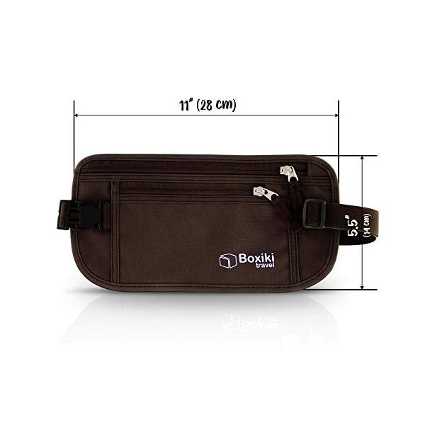 Cintura portasoldi – Cintura portasoldi con blocco RFID |Marsupio sicuro, Cintura Sicurezza per uomini e donne by Boxiki… 2 spesavip