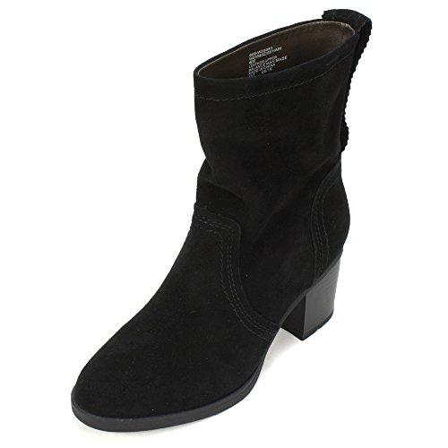 White Mountain Women's Behari Ankle Bootie, Black, 7.5 M US (Black And White Booties)