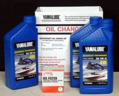 Yamaha Yamalube 10W-40 PWC Watercraft Oil Change Kit LUB-WTRCG-KT-00