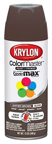 Krylon K05250102 Paint Enamel, 12 oz, Leather Brown