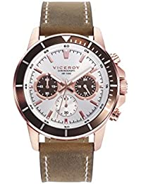 Watch Viceroy 401039-07 Leather Chronograph White Man