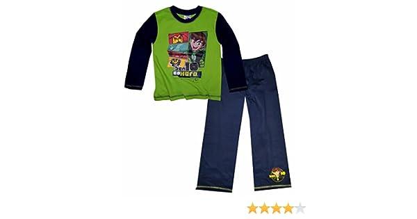 Ben 10 - Conjunto de pijama de manga larga para niños (4-5 años/Lima/azul marino): Amazon.es: Ropa y accesorios