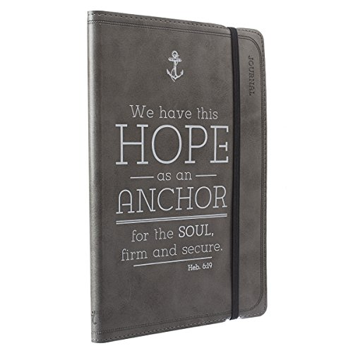 Pewter Hope as an Anchor Flexcover Journal / Notebook - Hebrews 6:19