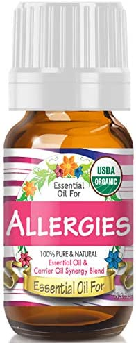 Essential Oil for Allergies USDA Organic – 100 Pure Unique Blend of Essential Oils Recomended by Aromatherapists for Aromatherapy – 10ml