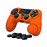 Cheap CHINFAI PS4 Controller DualShock 4 Skin Grip Anti-slip Silicone Cover Protector Case for Sony PS4/PS4 Slim/PS4 Pro Controller with 8 Thumb Grips (Orange)