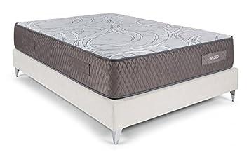 Bedland ▻ Colchón Viscoelástico ML 600, Color Gris y Blanco (135cm x 190cm)