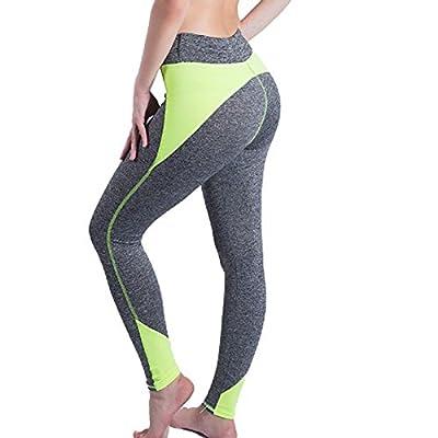 Xuanytp Pantalon de yoga Pantalon Femmes Leggings Taille Haute Dames Multi-Couleur Couture Leggings Respirant Leggings Dames Polyester Neuf Pantalon