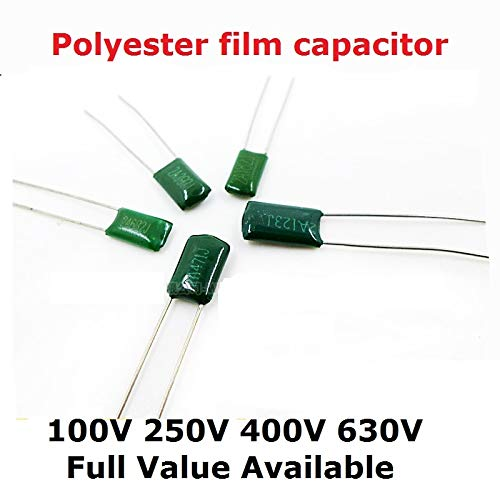 Kammas 50PCS 630V 2J223J 2J472J 2J103J 2J333J 2J473J 10/4.7/22/47/33NF 0.0/1/22/33/47uf 0.0047uf Polyester Film Capacitor 103J 223 472 - (Capacitance: 2J223J 22NF 630V)
