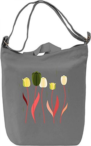 Colourful Tulips Borsa Giornaliera Canvas Canvas Day Bag| 100% Premium Cotton Canvas| DTG Printing|
