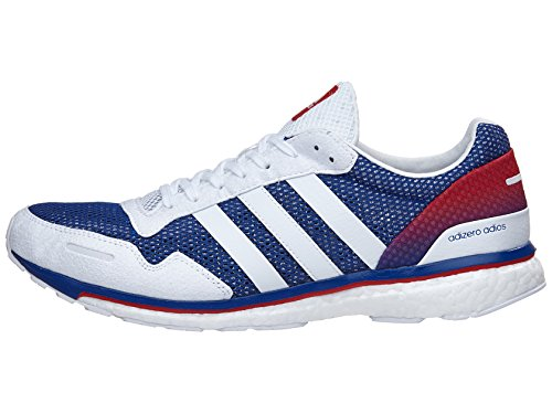 adidas Performance Men's Adizero Adios AKTIV Running Shoe Collegiate Royal/White/Scarlet 12 M US